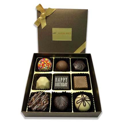 Passionate Happy Birthday Chocolate Box- 9 Pcs: Chocolates
