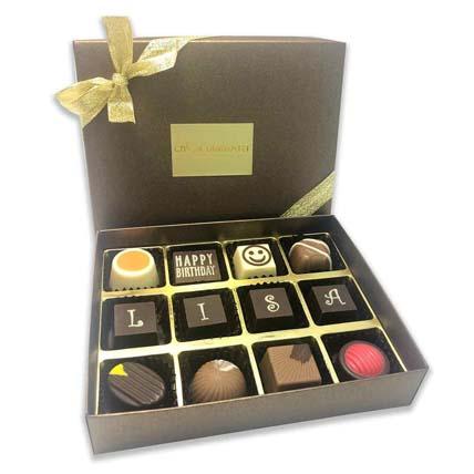 Extravagant Happy Birthday Chocolate Box- 12 Pcs: Chocolates