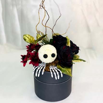 Halloween Chrysanthemum Arrangement: Halloween Gifts