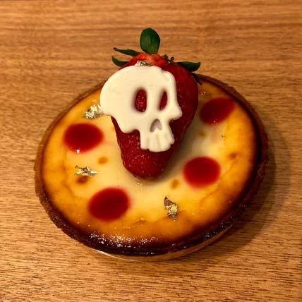 Cheesecake Skull Tart: Halloween Cupcakes