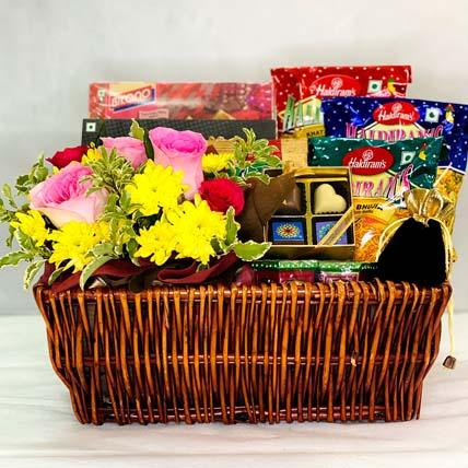 Tangy Diwali Mixture Hamper: Flowers For Diwali