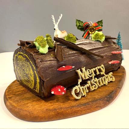Festive Christmas Tree Chocolate Log Cake: Christmas Gifts