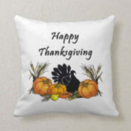 Happy Thanksgiving Wishes Cushion: Thanksgiving Gift ideas