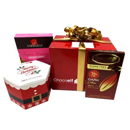 Fairy Christmas Bespoke Gift Hamper: Christmas Chocolate Gifts