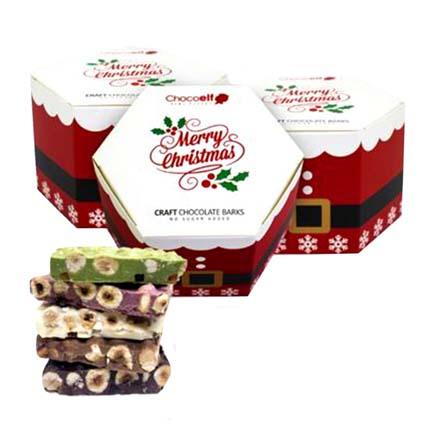 Merry Christmas Craft Barks Hamper: Christmas Chocolate Gifts