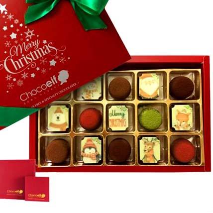 Merry Christmas Festive Pralines & Truffle Mini Box: Christmas Gift Singapore