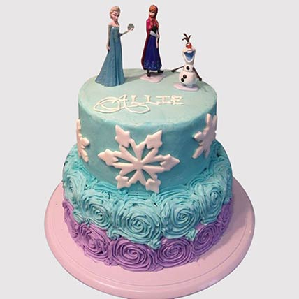 2 Layered Frozen Theme Cake: Cinderella Cakes