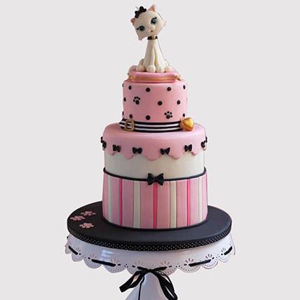 2 Tier Cat Designer Cake: