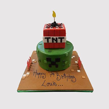 2 Tier Minecraft Cake: