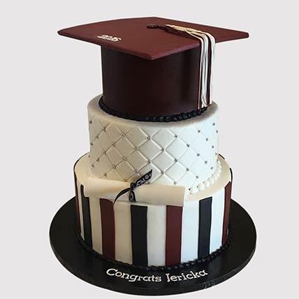 3 Layered Graduation Cake: