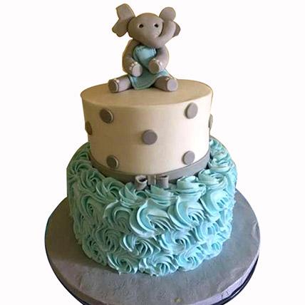 Adorable Elephant Designer Cake: Baby Shower Gifts