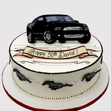 Black Car Fondant Cake: