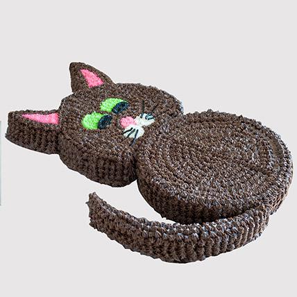 Cat Shaped Fondant Cake: Cat Cakes