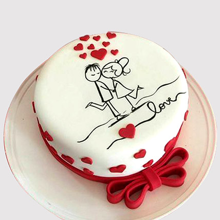 Couple In Love Cake: