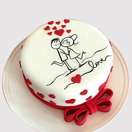 Couple In Love Cake: Fondant Cakes