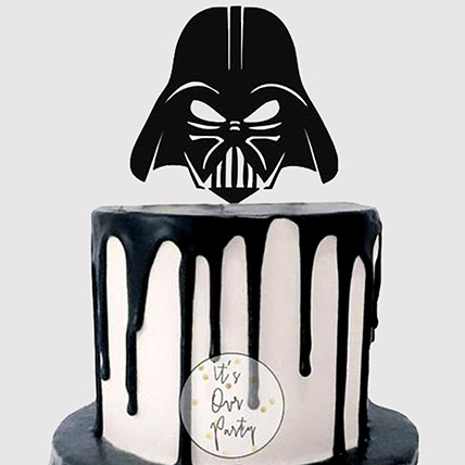 Darth Vader Helmet Mask Cake: