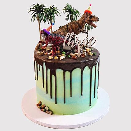 Designer Dinosaur Cake: