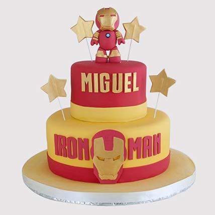 Designer Iron Man Cake: Cartoon Cakes