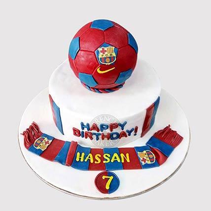 FC Barcelona Theme Cake: Football Cakes