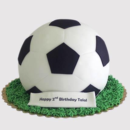 Football Shaped Cake: