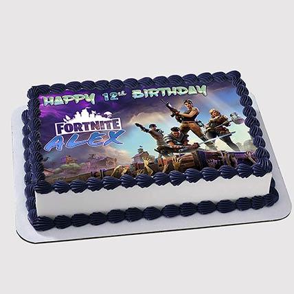 Fortnite Birthday Photo Cake: Photo Cakes