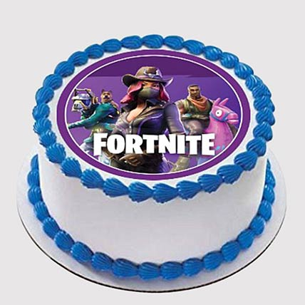 Fortnite Round Photo Cake: Photo Cake