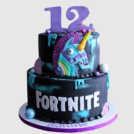 Fortnite Unicorn Cake: Alphabet cakes