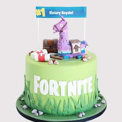 Fortnite Unicorn Floaties Cake: