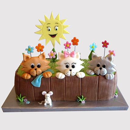 Happy Pets Cake: Fondant Cakes