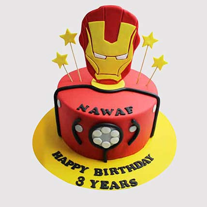 Iron Man Logo Starry Cake: Iron man Cakes