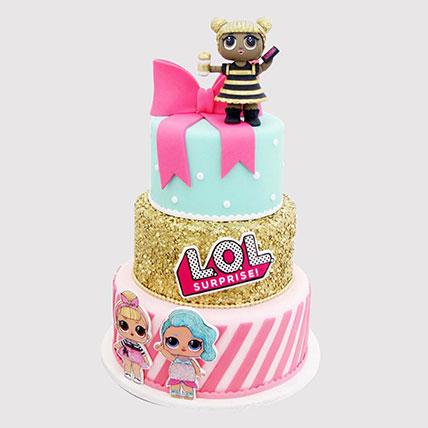 Lol Surprise 3 Layered Cake: