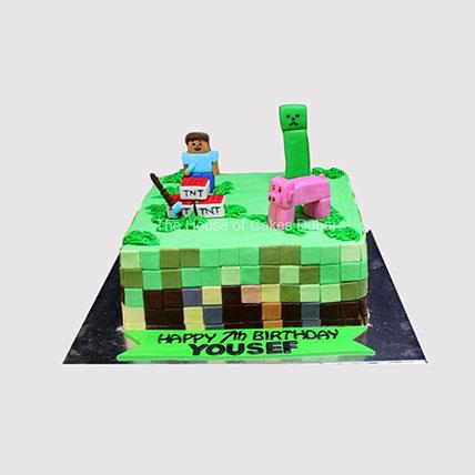 Minecraft Character Steve Cake:
