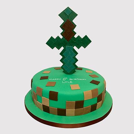 Minecraft Tree House Cake: