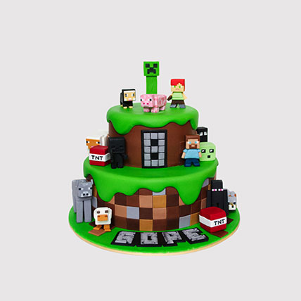 Minecraft World Cake: