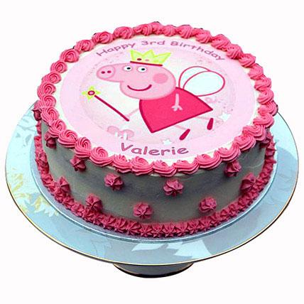 Peppa Pig Cream Cake: