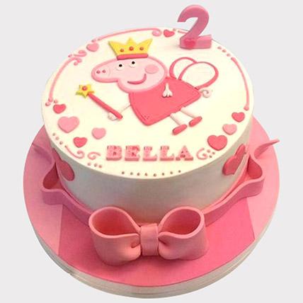 Peppa Pig Fondant Cake: Baby Shower Cakes