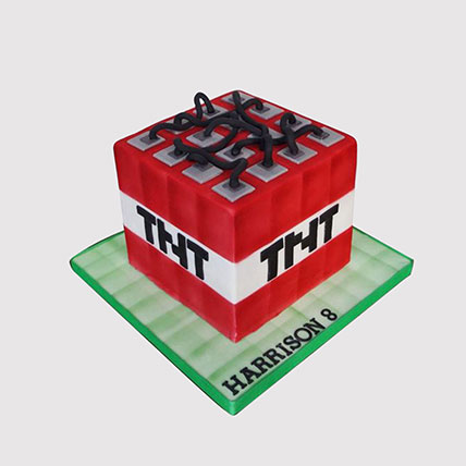 TNT Minecraft Cake: Minecraft Cakes Singapore