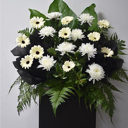 Gerberas N Chrysanthemums Flower Stand: Sympathy and Funeral Flowers