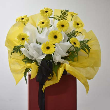 Yellow Gerberas Flower Stand: Grand Opening Flower Stand Singapore