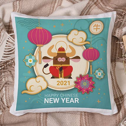 Happy Chinese New-Year Cushion: Gifts For Girls