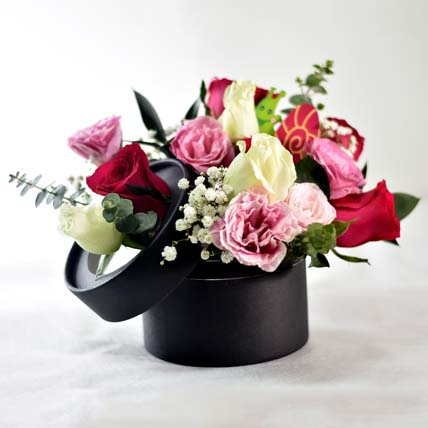 Colourful Floral Bunch In Box: Hug Day Gifts