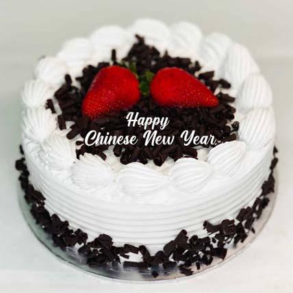 Chinese New Year Black Forest Cake: Chinese New Year Cake