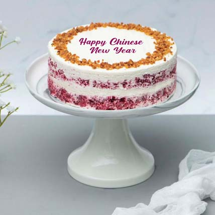 CNY Classic Red Velvet Peanut Butter Cake: Chinese New Year Cake