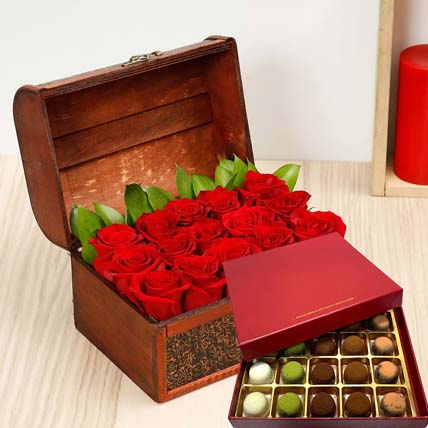 Red Roses & Sugar Free Truffles: Flowers N Chocolates