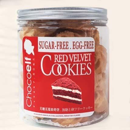Red Velvet Love Sugar Free Cookies: Christmas Cookies