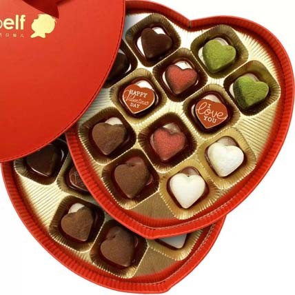 Love Truffles in Heart Box: Valentines Day Gifts