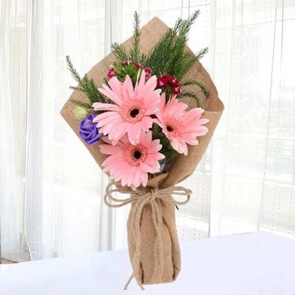 Pink Gerberas Chic Bunch: Gerberas Bouquet