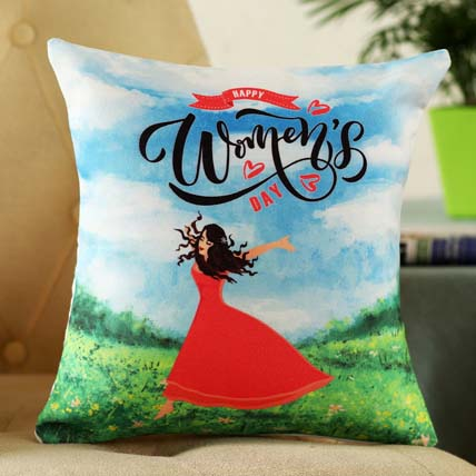 Women Day Greetings Cushion: Women's Day Gifts
