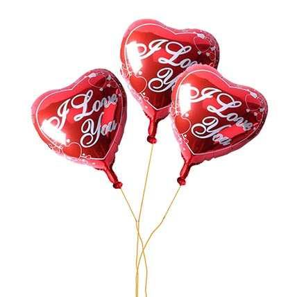 Bouquet of 3 I Love You Balloon: Balloon Bouquets