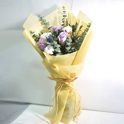 Beautiful Cotton Flower & Rose Bouquet: International Women's Day Gift Ideas